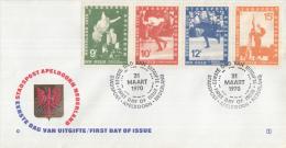 Stadspost Apeldoorn - FDC 1 - 31 Maart 1970 - WK-schaatsen Oslo 1970 - Kees Verkerk - Ard Schenk - Magne Thomassen - Winter (Varia)