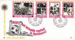 Stadspost Apeldoorn - FDC 3 - 17 April 1971 - Redt Het Betaalde Voetbal In Apeldoorn - Voetbal