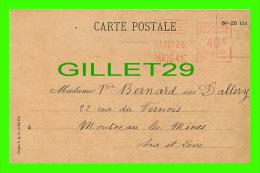 MÉTIERS, MINES - CAISSE AUTONOME DE RETRAITES DES OUVRIERS MINEURS, PARIS XVe - CIRCULÉE EN 1935 - - Métiers