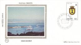 Benham Silk Cover - Naval Crests H.M.S. Rooke- Gibraltar 14th April 1982 - Barche