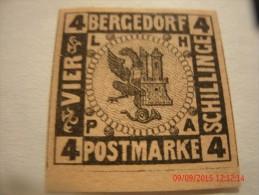 BERGEDORF, SCOTT# 5, 4s BLACK ON ORANGE BROWN,  MINT NGH - Bergedorf