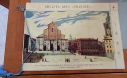 """CALENDARIO 1988 BRIGATA MECCANIZZATA """"TRIESTE""""  ALL'INTERNO: CENNI STORICI I REPARTI OGGI DAL GOTICO AL BAROCCO I COMAND - Calendari"""
