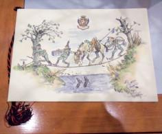 """CALENDARIO 1996 REGGIMENTO """"SAVOIA CAVALLERIA""""  ALL'INTERNO: IL MOTTO E LA CRAVATTA ROSSA LE DECORAZIONI ALLO STENDARDO - Calendari"""