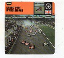 Sept15  70430   Grand Prix D'angleterre    ( Fiche Auto ) - Automobile - F1