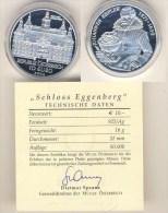 10 Euro Silbermünze 2002 Österreich Schloß Eggenberg PP - Austria
