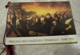 """CALENDARIO 1992 BRIGATA MECCANIZZATA """"PINEROLO"""" ALL'INTERNO: I COMANDANTI VICE COMANDANTI CAPI DI STATO MAGGIORE 60° REG - Calendari"""