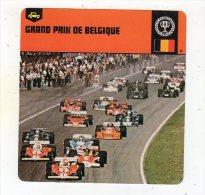 Sept15  70442  Grand Prix De Belgique  ( Fiche Auto ) - Automobile - F1