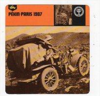 Sept15  70443  Pékin Paris 1907  ( Fiche Auto ) - Automobile - F1