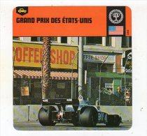 Sept15  70445  Grand Prix Des état Unis( Fiche Auto ) - Automobile - F1