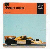 Sept15  70445 A    Formule 1 Actuelle   ( Fiche Auto ) - Automobile - F1