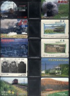 D01 - 10 Different Japan Railways JR Tickets - Topics: Train Electric Steam Locomotive Tram - Transportation Tickets