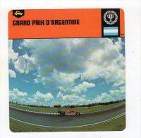 Sept15  63221  2   Grand Prix D'argentine    ( Fiche Auto ) - Automobile - F1