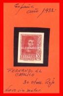 ESPAÑA -  FERNANDO EL CATOLICO -30 Cts. AÑO 1938 - 1931-50 Nuevos & Fijasellos