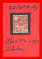 ESPAÑA -  GUINEA ESPAÑOLA  ALFONSO XIII   -  AÑO 1909 - Guinea Española