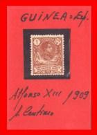 ESPAÑA -  GUINEA ESPAÑOLA  ALFONSO XIII   -  AÑO 1909 - Spanish Guinea