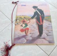 CALENDARIO 1996 DELL'ARMA DEI CARABINIERI CINQUANTENARIO DELLA REPUBBLICA ITALIANA NEL SEGNO DELLA RICOSTRUZIONE DIMENSI - Calendari