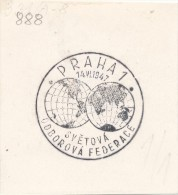 J4570 - Czechoslovakia (1947) Praha 1: The World Federation Of Trade Unions - Geographie