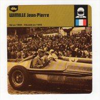 Sept15  64407 2   Wimille Jean Pierre ( Fiches Auto ) - Automobile - F1