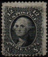 USA - 12 C. Washington De 1861 Oblitéré Avec Grille - 2 Scans - Usati