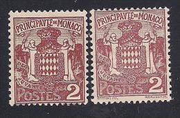 Monaco ( ** ) Neuf 1924-33 Scott # 61 - Diversity - Unused Stamps