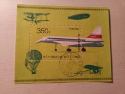 BLOC Oblitéré - TCHAD - Aviation. - Aerei