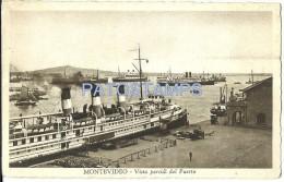 17081 URUGUAY MONTEVIDEO VISTA PARCIAL DEL PUERTO PORT & SHIP POSTAL POSTCARD - Argentinien