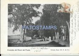 17088 URUGUAY COLONIA SUIZA NUEVA HELVECIA AVENIDA DEL HOTEL DEL PRADO YEAR 1910 POSTAL POSTCARD - Argentinien