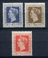 28250) NIEDERLANDE # 500-02 Postfrisch Aus 1948, 70.- € - Period 1891-1948 (Wilhelmina)