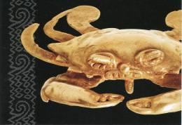 Lote PEP860, Costa Rica, Postal, Postcard, Museo Del BCCR, Colgante En Forma De Cangrejo, Agua, Indigenous Handicrafts - Costa Rica