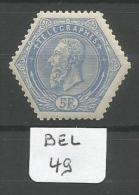 BEL COB TG 17 En Xx YT Télégraphe 17 # - Telégrafo