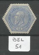 BEL COB TG 17 En Xx Variété Cadre Supérieur Gauche Et Inférieur Coupé YT Télégraphe 17 # - Telégrafo