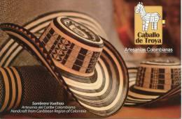 Lote PEP867, Colombia, Postal, Postcard, CT, Sombrero Vueltiao, Handcraft, Hat - Colombia