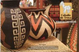 Lote PEP868, Colombia, Postal, Postcard, CT, Werregue, Handcraft - Colombia