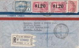 Uruguay / Airmail / G.B. / U.S. / Horses - Uruguay