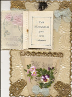 ~  BONNE ANNEE  ~  Cartecelluloi Ajouré Avec Petit Almanach 1911   Pas Chére .  Bien Sympa à Saisir  . Très Bon état   . - New Year