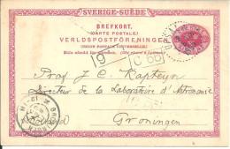 Suede Entiers Postaux   1905 Gromingen Upsala - Ganzsachen
