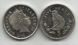Gibraltar 5 Pence 2000. UNC - Gibraltar