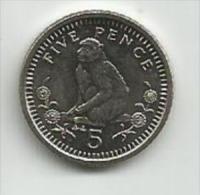 Gibraltar 5 Pence 1990. UNC - Gibraltar