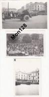 LE MANS (72)GUERRE 39-45-LIBERATION DU MANS AOUT 1944- 3 PHOTOS ORIGINALES (canon,camion) - Le Mans