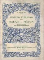 Rivista Italiana Delle Essenze E Profumi - Anno V - N°1 - Janvier 1923 - Parfum - Huiles Essentielle - TRES RARE - Gezondheid En Schoonheid