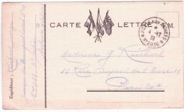 1939- Carte-lettre F M Avec Cad  Du Bureau Fictif    N° 2036 - Marcophilie (Lettres)