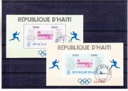 Natation - Plongeon - Jeux Olympiques - Haiti - Yvert Blocs 26 / 27 Oblitérés - Valeur 50 Euros - Zomer 1968: Mexico-City