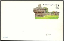 Stati Uniti/United States/États-Unis: Intero, Stationery, Entier, Fort Recovery, Ohio - American Indians