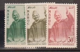 MAROC     1957          N°   374 / 376      COTE     9 € 00           ( Y 415 ) - Morocco (1956-...)