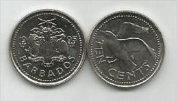 Barbados 10 Cents 1995. UNC - Barbades