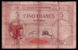 New Caledonia 5 Francs 1926-1929 P.36a VG - Nouméa (New Caledonia 1873-1985)
