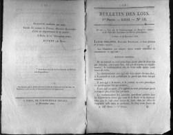 Bulletin Des Lois N°16 - 15 Décembre 1830 - Droits De Timbre Et Port Des Journaux Et écrits Périodiques - - Decretos & Leyes