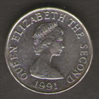 JERSEY FIVE PENCE 1991 - Jersey