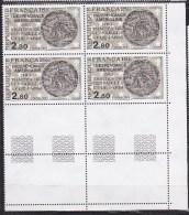 N° 2285 Indépendance Américaine 1783 Traité De Versailles Et De Paris: Médaille Du 18ème Siècle: Bloc De 4 Timbres - Frankreich