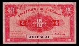 Hong Kong 10 Cents 1941 P.315 VF- - Hong Kong